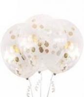 3pk 45cm gold foil balloon