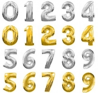 number balloons 5 for $10