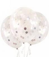 3pk 45cm silver foil balloons
